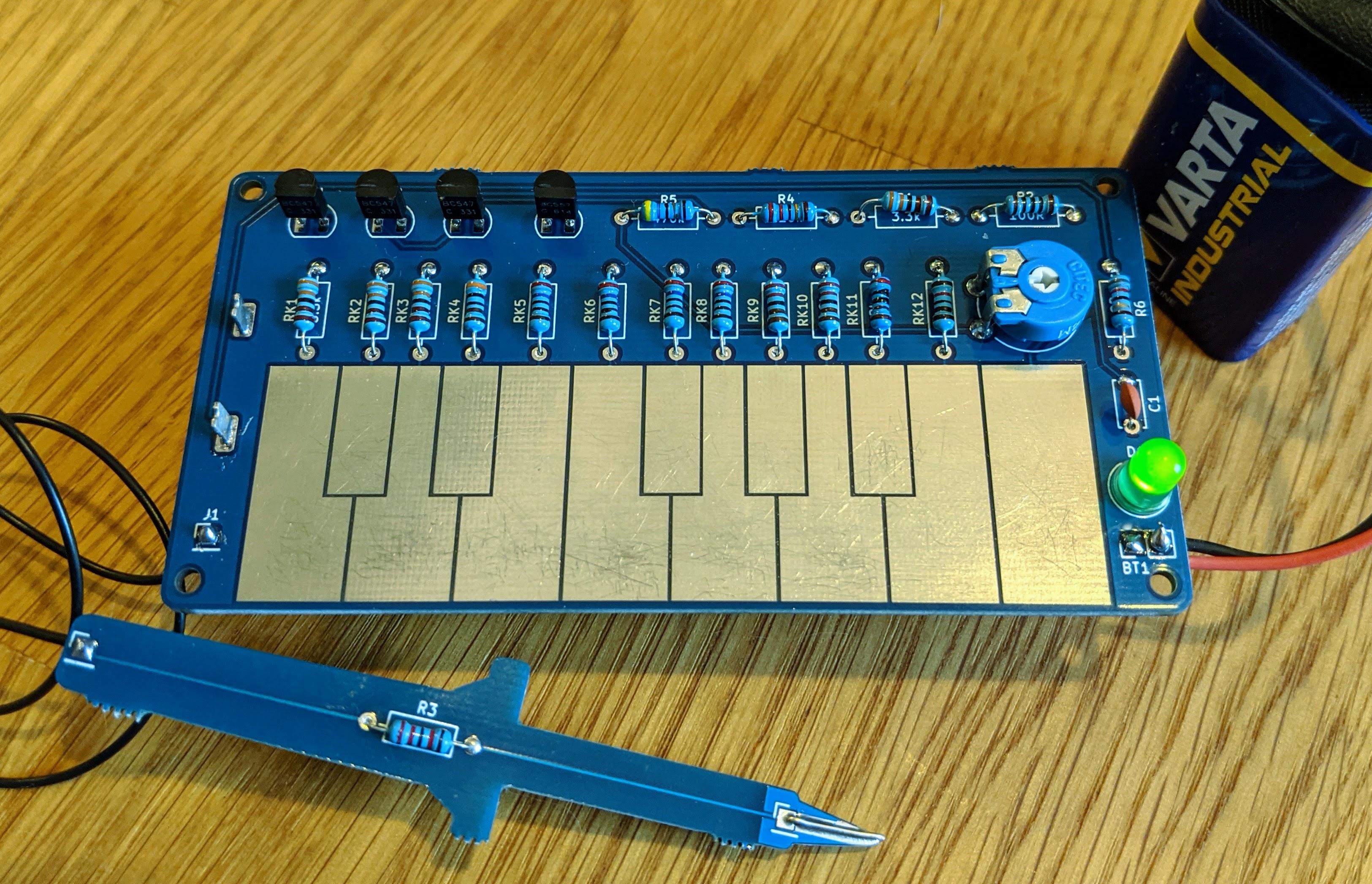 Sawtooth organ - Simple soldering kit for making music